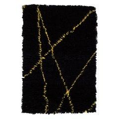 Black and Yellow Moroccan Style Custom Rug
