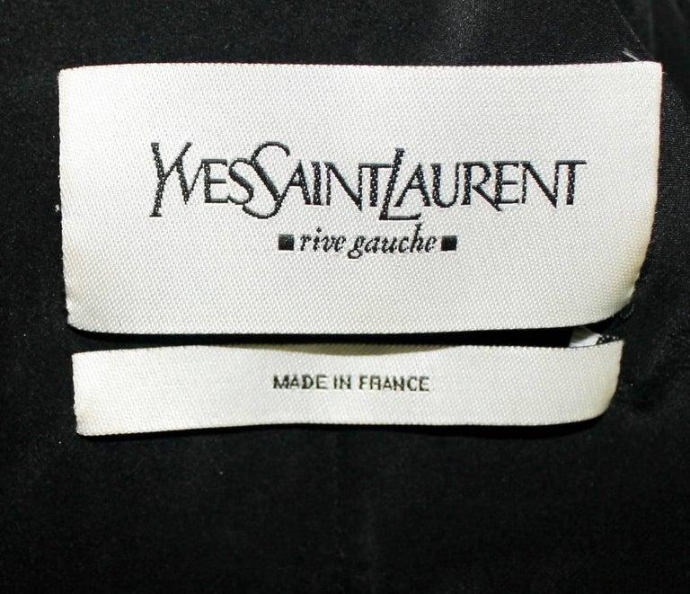 Black YSL Yves Saint Laurent by Tom Ford Evening Blazer Jacket Ribbon Details For Sale 3