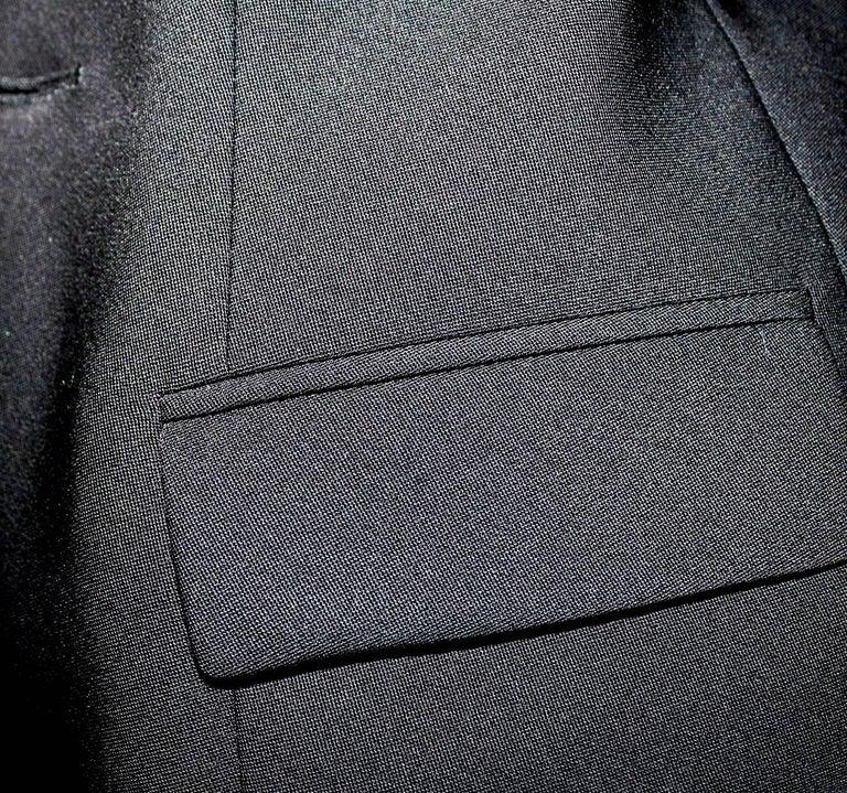 Black YSL Yves Saint Laurent by Tom Ford Evening Blazer Jacket Ribbon Details For Sale 4
