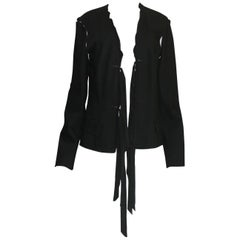 Black YSL Yves Saint Laurent by Tom Ford Evening Blazer Jacket Ribbon Details