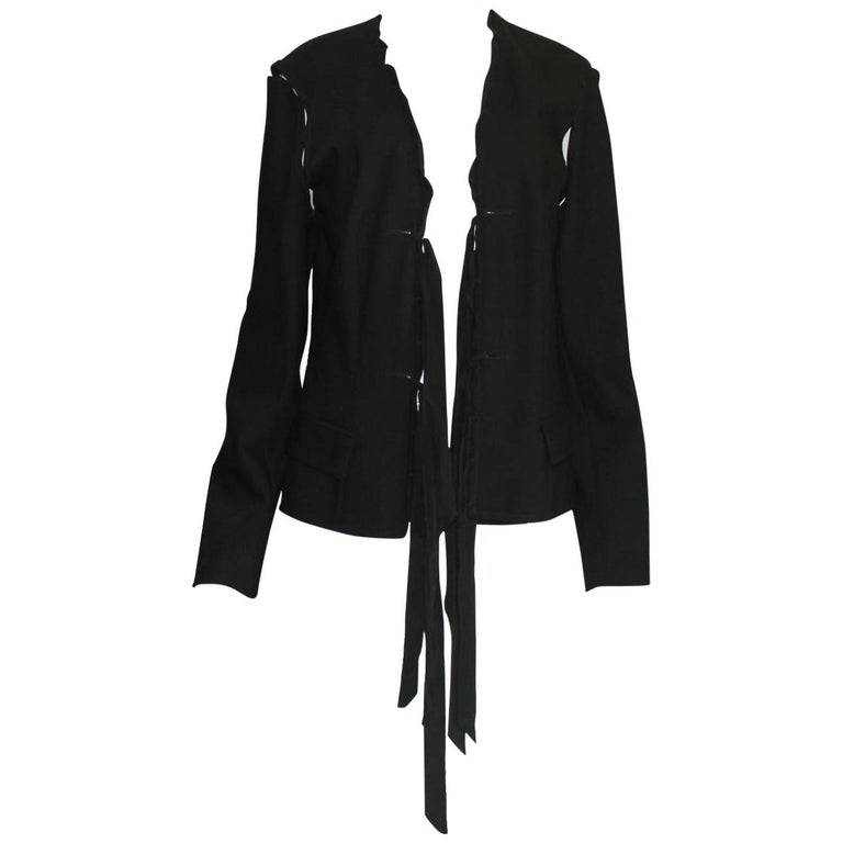 a139c9b2a57 Black YSL Yves Saint Laurent by Tom Ford Evening Blazer Jacket Ribbon  Details For Sale