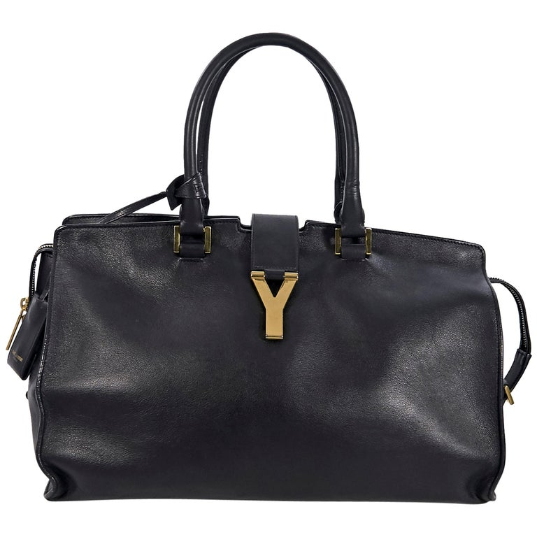 Black Yves Saint Laurent Cabas Chyc Tote Bag For Sale At