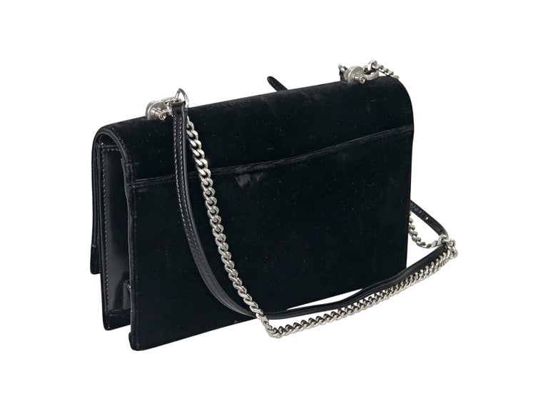 b5634935f2 Black Yves Saint Laurent Small Velvet Babylon Bag