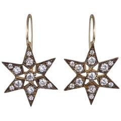 Blackbird and the Snow Vogue Diamond Fancy Star Earrings