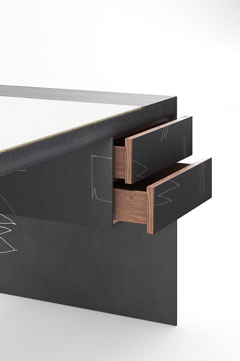 Modern Blackened, Bespoke and Etched Dining