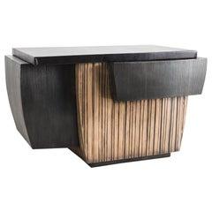 Blackened Steel and Layered Bronze Desk, Usa