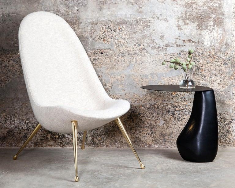 Blackened Steel Dionis Side Table by Konekt Furniture  Dimensions: 21