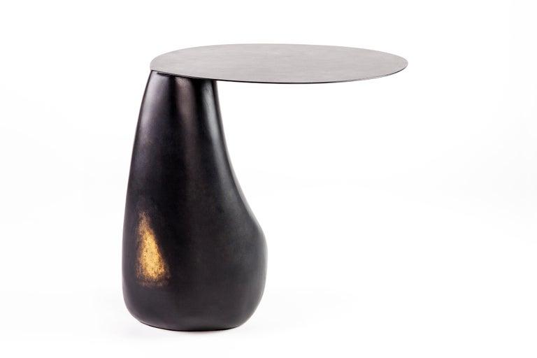 American Blackened Steel Dionis Side Table by Konekt Furniture For Sale