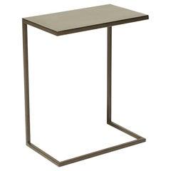 Blackened Steel Side Table