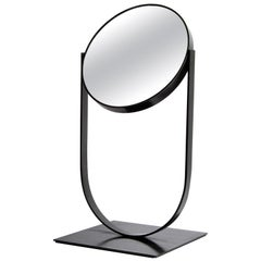 Modern Blackened Steel Table Top Double Swivel Mirror