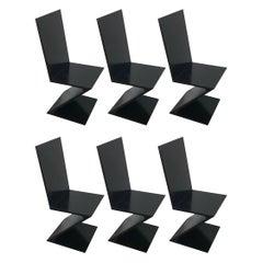 Blackened Zig Zag Chairs after Gerrit Rietveld