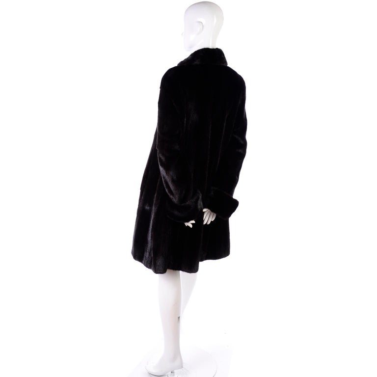 Blackglama Dark Ranch Mink Coat  For Sale 2