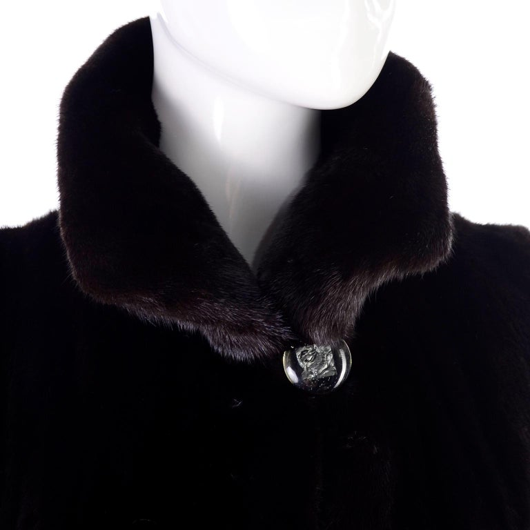 Blackglama Dark Ranch Mink Coat  For Sale 9