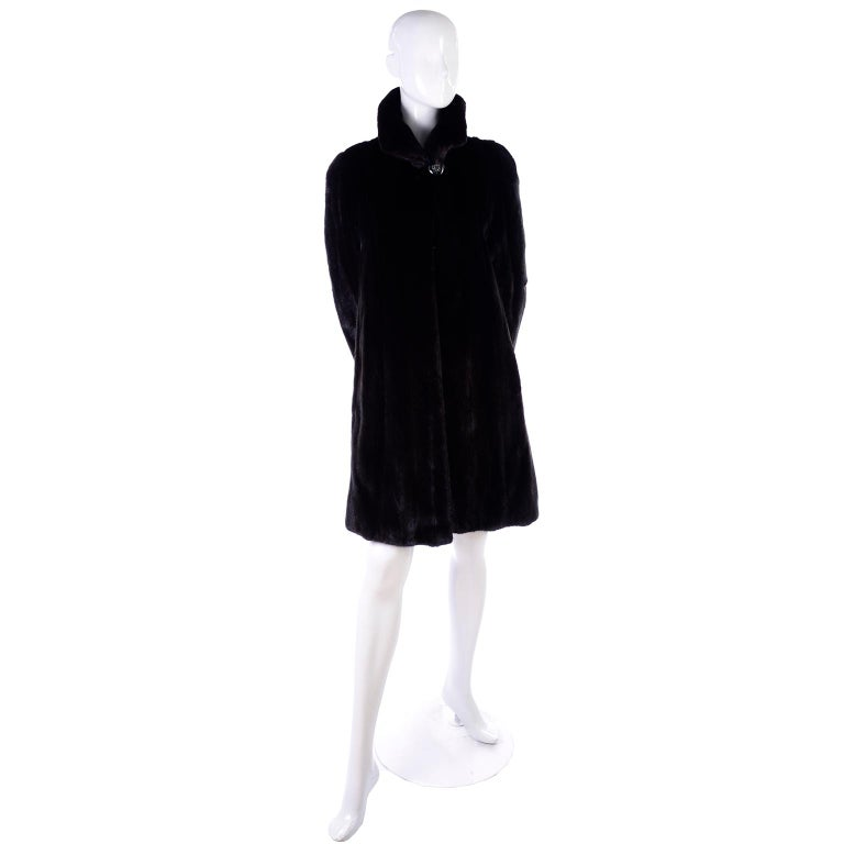 Women's Blackglama Dark Ranch Mink Coat  For Sale