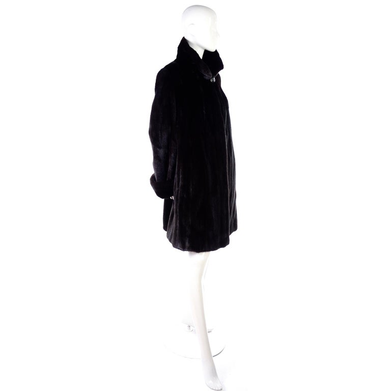 Blackglama Dark Ranch Mink Coat  For Sale 4
