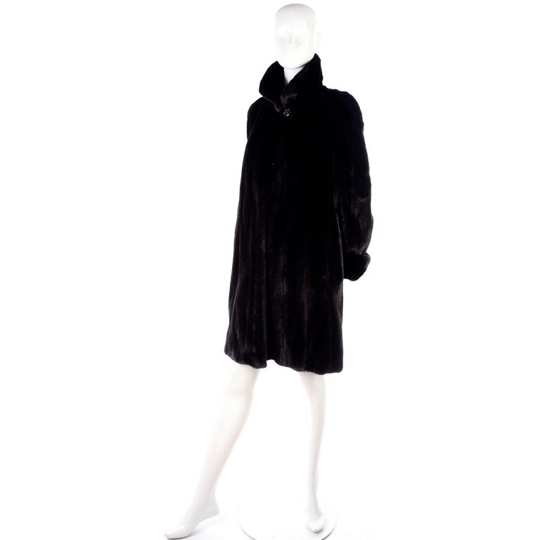 Blackglama Dark Ranch Mink Coat  For Sale 1