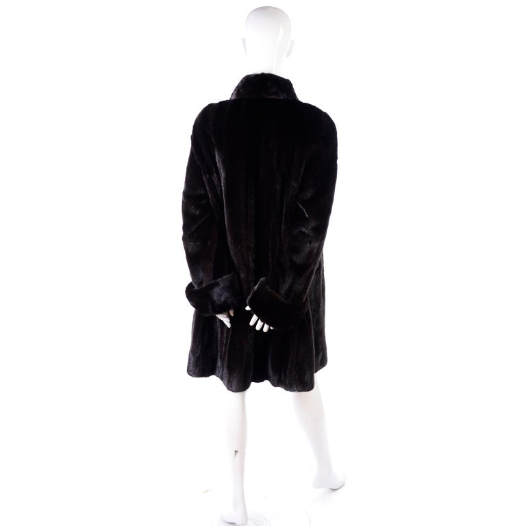Blackglama Dark Ranch Mink Coat  For Sale 3