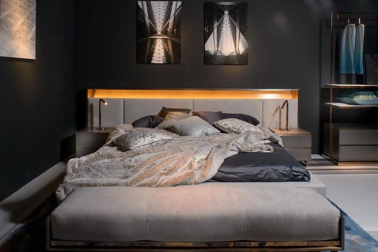 Italian Blackgold, Bed 'Headboard and Springboard' For Sale
