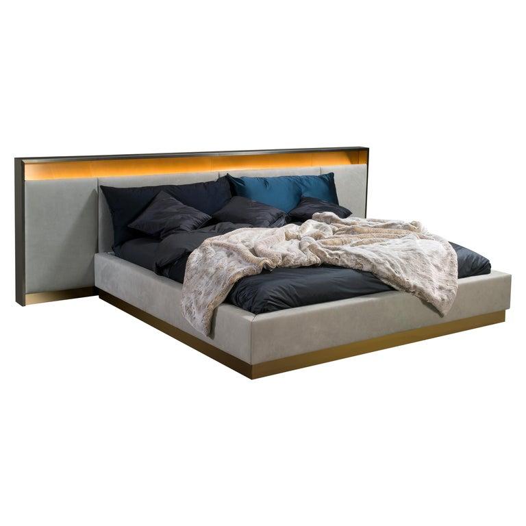 Blackgold, Bed 'Headboard and Springboard' For Sale
