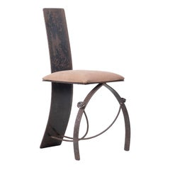 Blacksmith Crafted Steel Side Chair
