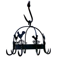 Blacksmith Made Iron Game Hanger, Kitchen Utensil or Pot Hanger