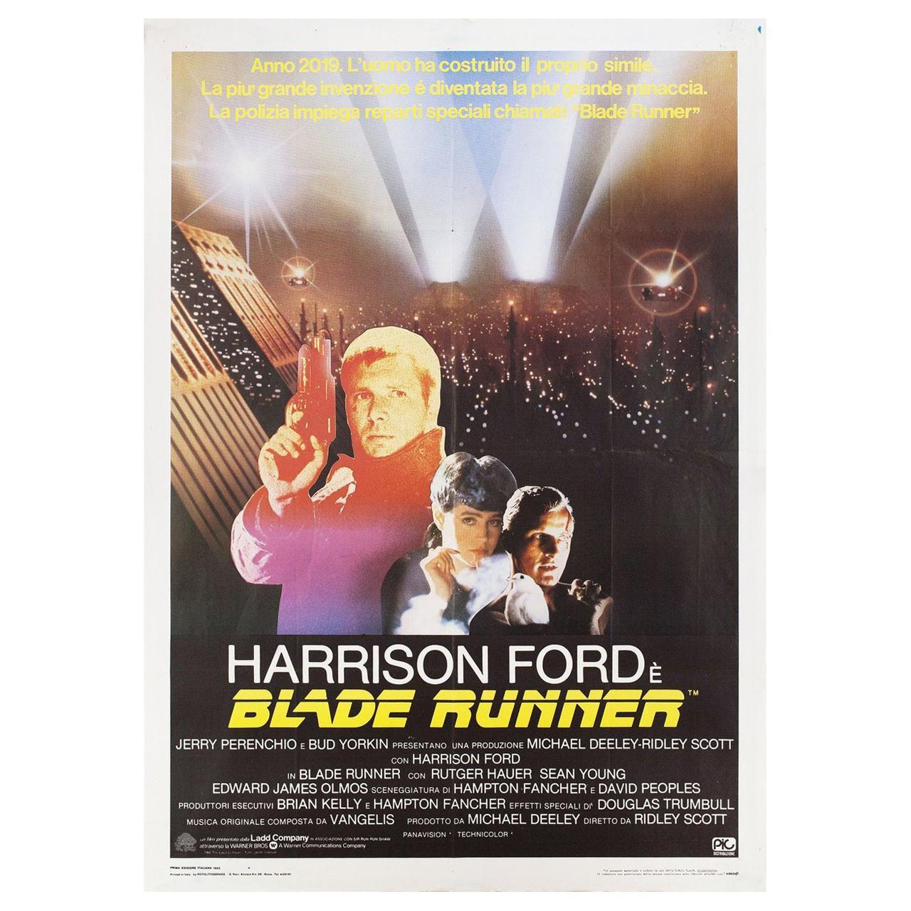 Blade Runner 1982 Italian Due Fogli Film Poster