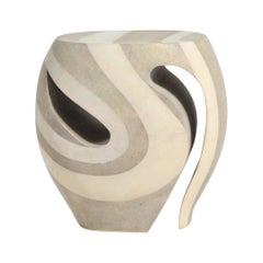 Blade Runner Stool in Cream Shagreen and White Shagreen by R&Y Augousti