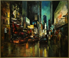 """""""Into the Night"""" by Blai Tomas Ibanez 47 x 55 in. Acrylic on Canvas"""