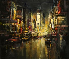 """Metropolis"" by Blai Tomas Ibanez 63 x 71 in. Acrylic on Board"