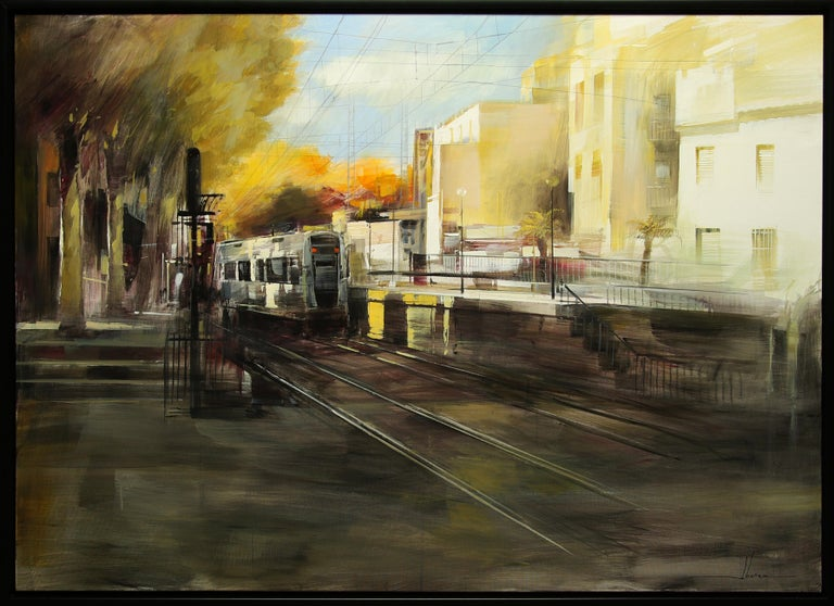 """Item is in excellent condition and has only been displayed in a gallery setting. Item includes frame; framed dimensions are approximately 41 x 57 inches.  Artist Statement:  """"My work captures the magic and emotions of this fantastic world. My"""