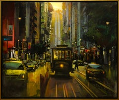 """""""San Francisco"""" by Blai Tomas Ibanez 47 x 55 in. Acrylic on Canvas"""