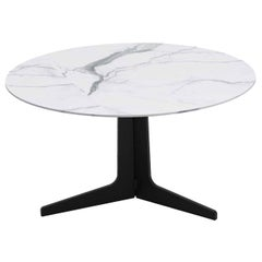 Blake Round Coffee Table with Calacatta Marble Top