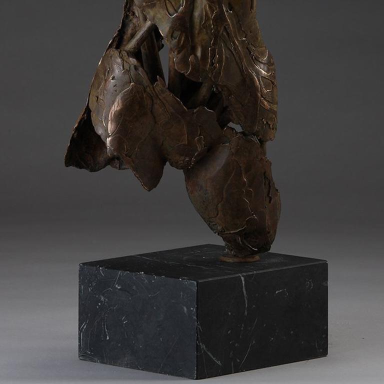 Angel Muriel - Gold Figurative Sculpture by Blake Ward