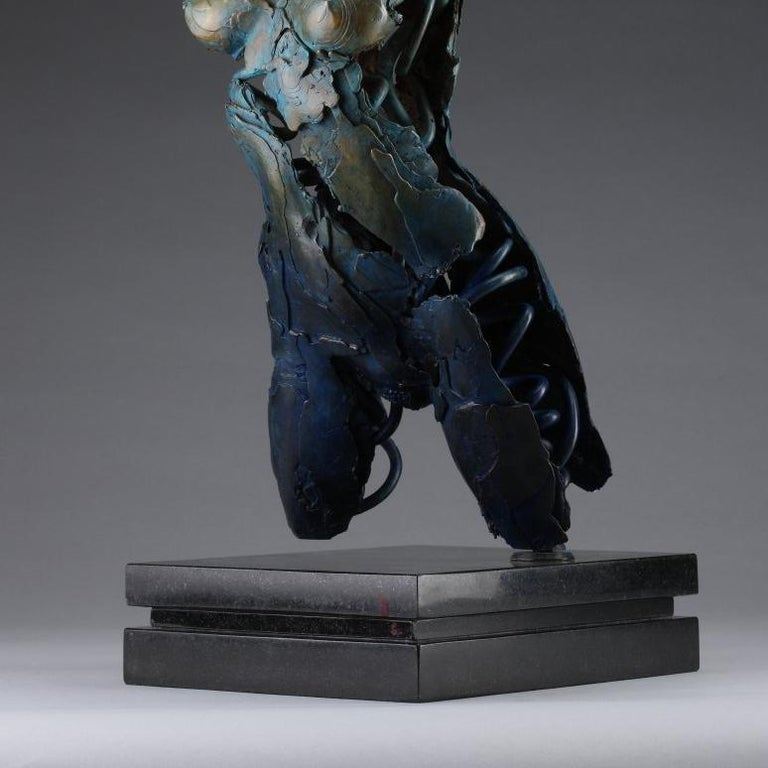 Angel Valoel - Gold Figurative Sculpture by Blake Ward