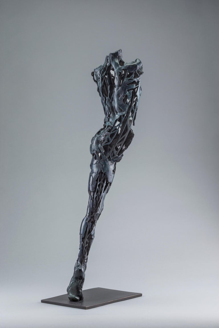 Andromeda Series: Devorah 62  Digital 3D Printed in wax polymer Cast  Final bronze case produced at ArtCast Georgetown Ontario, Canada 2018  Bronze  Monaco 2013  24.4 x 4.7 x 7.9 inches    Edition size: 3 plus 1 AP  ARTIST STATEMENT:
