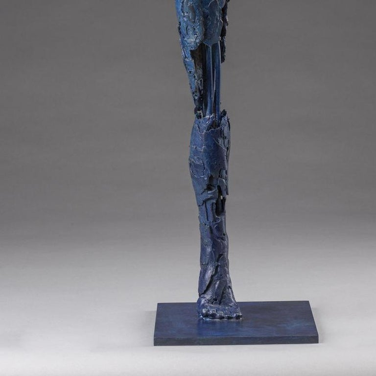 Ushabti Tefnet (Lunar Goddess of Water) - Gold Figurative Sculpture by Blake Ward