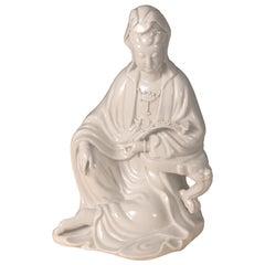 Blanc de chine 'Dehua' Porcelain Figure of Quanyin 'circa 1980'