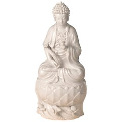 Blanc de Chine 'Dehua' Porcelain Figure of Quanyin