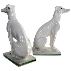 Blanc de Chine Italian Greyhounds, a Pair