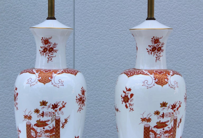 Chinese Blanc De Chine Large Table Lamps For Sale