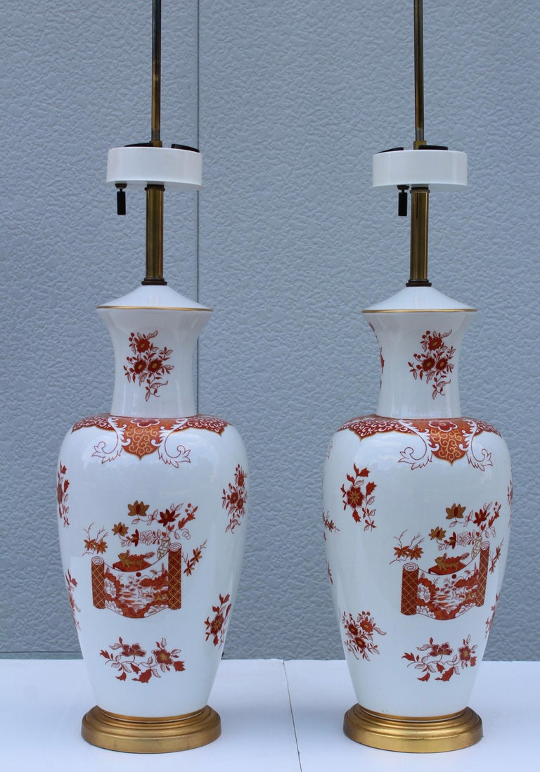 Mid-20th Century Blanc De Chine Large Table Lamps For Sale
