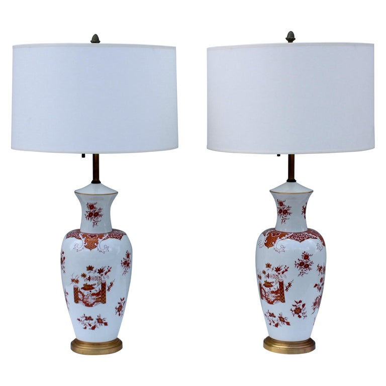 Blanc De Chine Large Table Lamps For Sale