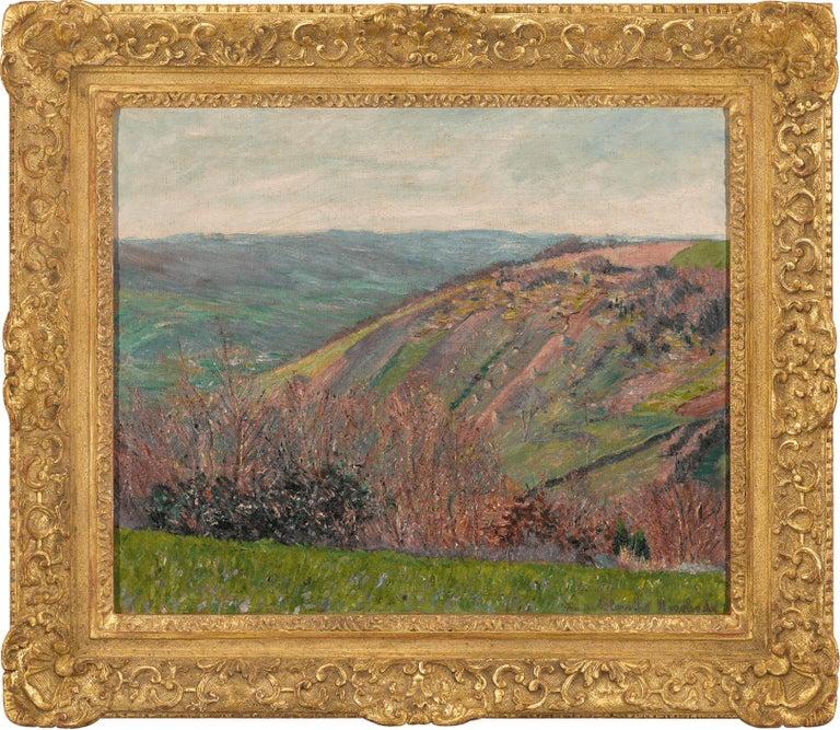Paysage Vallonné dans les Environs de Giverny - Painting by Blanche Hoschedé-Monet