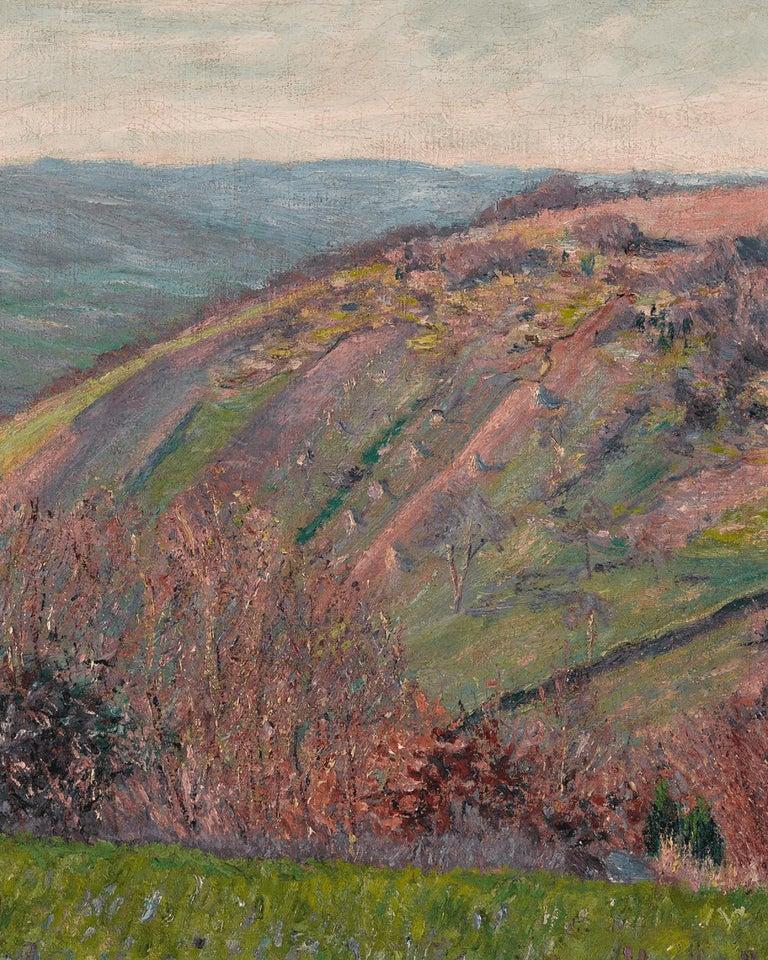 Paysage Vallonné dans les Environs de Giverny - Impressionist Painting by Blanche Hoschedé-Monet