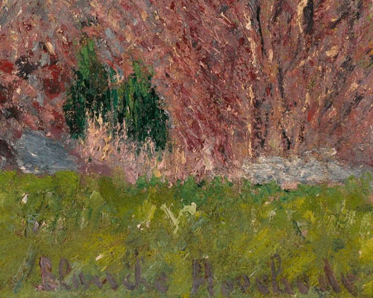 Paysage Vallonné dans les Environs de Giverny - Gray Landscape Painting by Blanche Hoschedé-Monet