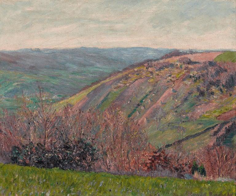 Blanche Hoschedé-Monet Landscape Painting - Paysage Vallonné dans les Environs de Giverny
