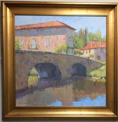 Afternoon Reflections, original French impressionist landscape