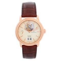 Blancpain 18 Karat Rose Gold Leman Tourbillon Watch Ref 2825