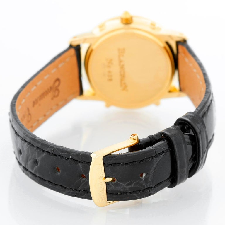 Blancpain 18 Karat Yellow Gold Moonphase Ladies Watch In Excellent Condition For Sale In Dallas, TX