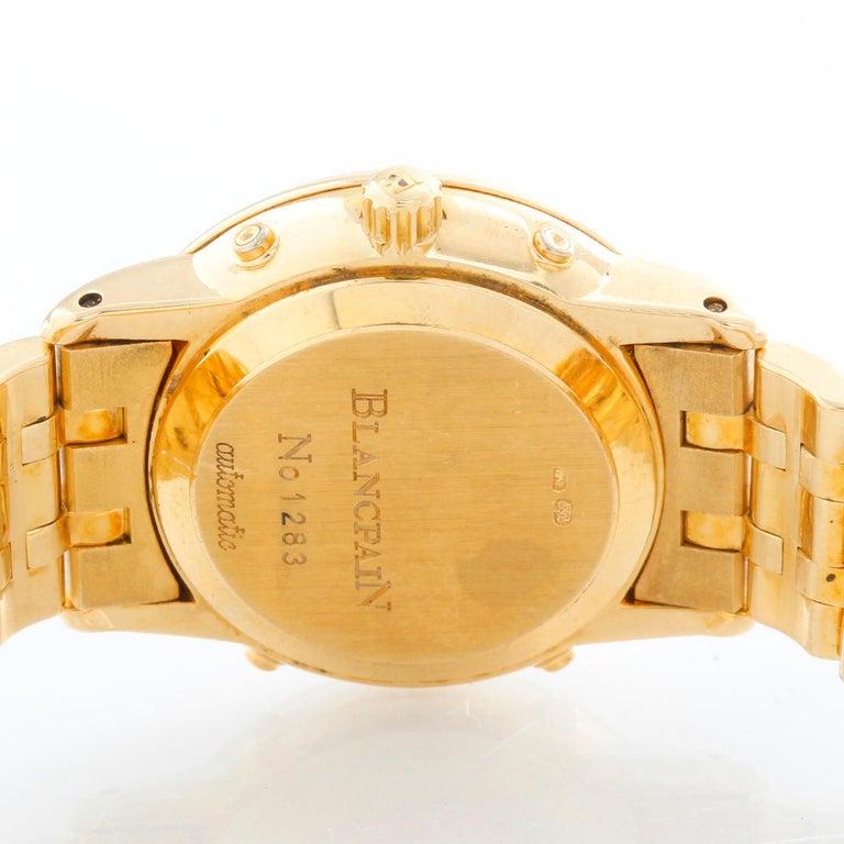 Women's Blancpain 18 Karat Yellow Gold Villeret Moonphase Ladies Watch For Sale